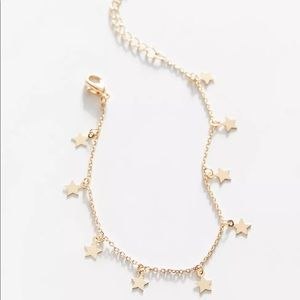 UO Gold Star Charm Bracelet - NWT Urban Outfitters